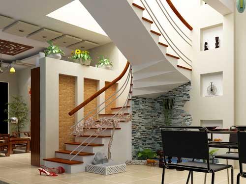 Tiểu cảnh gầm cầu thang TP Vinh Nghệ An